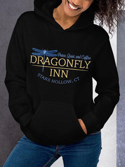 Dragonfly Dragonfly Inn Hooded Collar Sweatshirt