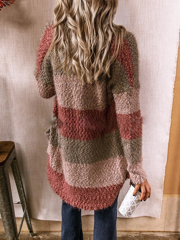Contrasting Thick Knitted Jacket