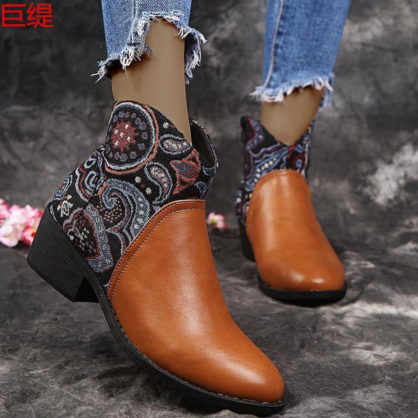 Stitching Leather Boots