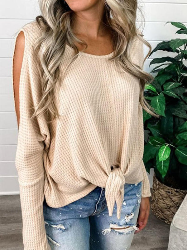 Women's Round Neck Sexy Strapless Tops