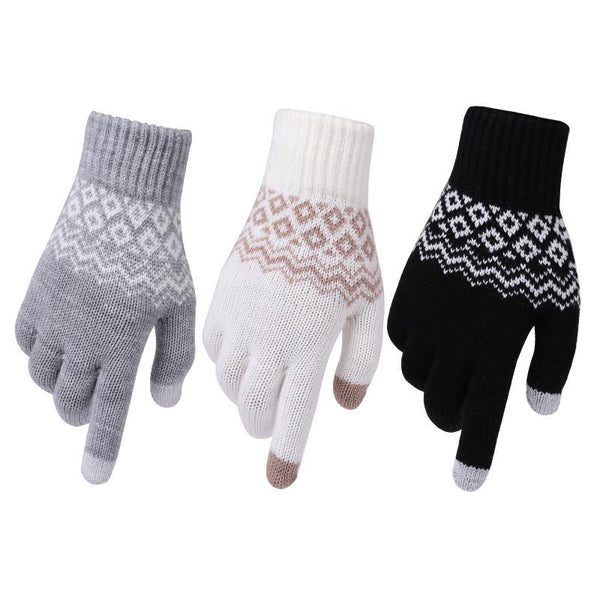 Adult Jacquard Gloves for Warmth and Cold In Winter
