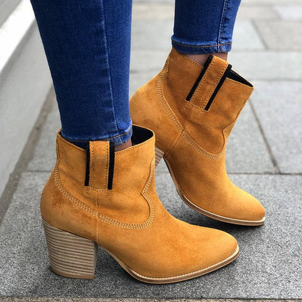 Thick Heels Short Boots