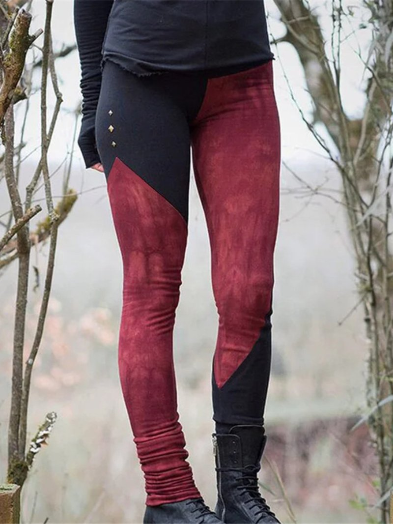 Solid Color Fashion Elastic Leggings Slim Casual Bottoming Pants