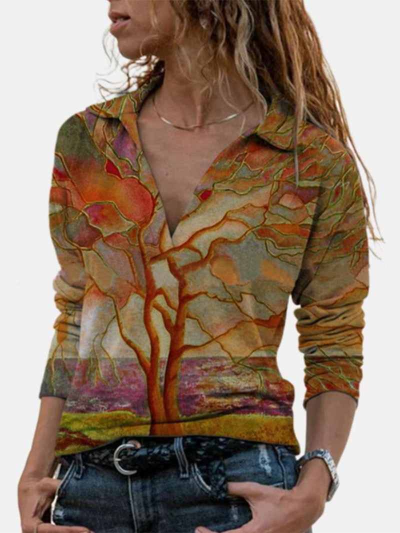 Branch Print Sweatshirt