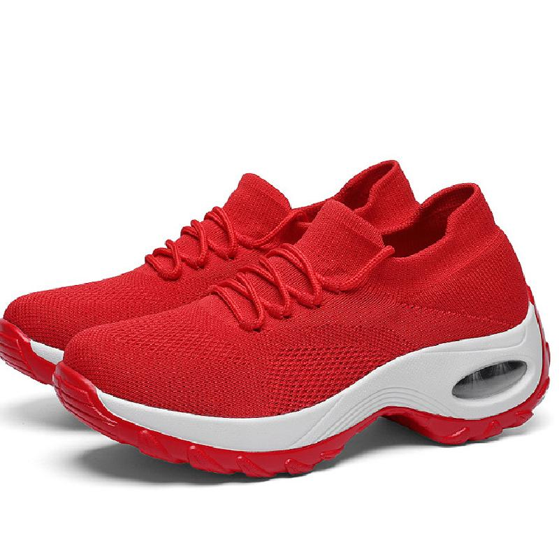 Women's Pure Color Air Cushion Sports Shoes