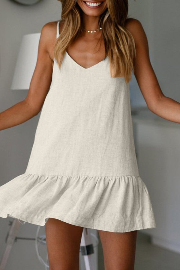 Casual V-neck Strap Dress