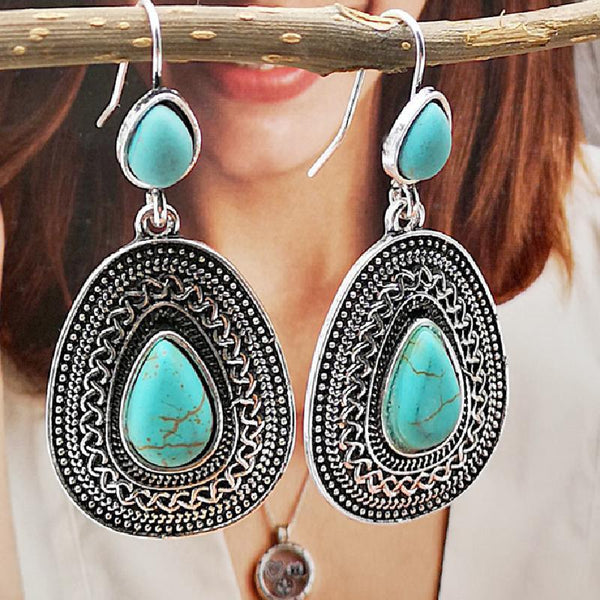 Fashion Turquoise Vintage Palace Earrings