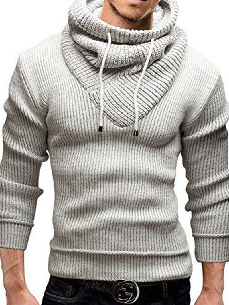 Pure Color Hooded Padded Sweater