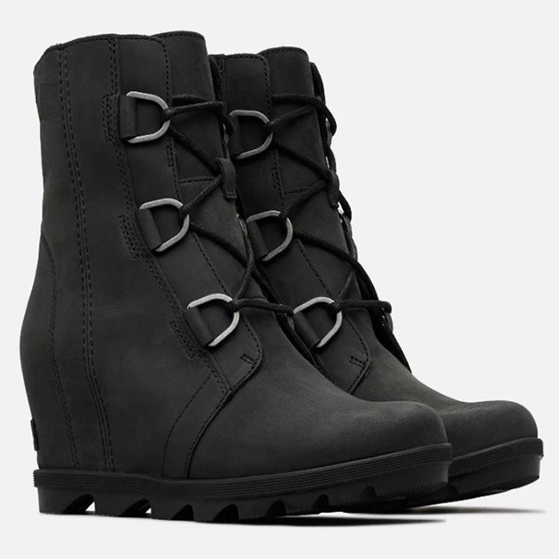 Heeled Lace Up Short Boot Women