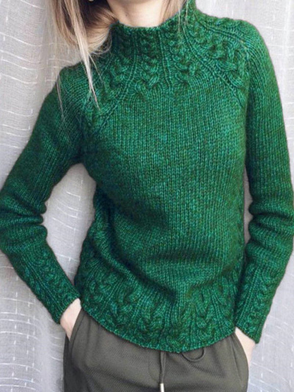 Solid Twist Knit Sweater