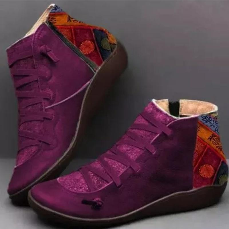 Patchwork Cotton Boots
