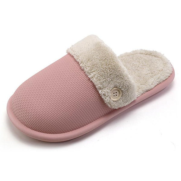 Pure Color Waterproof Non-slip Home Furnishing Warm Slippers