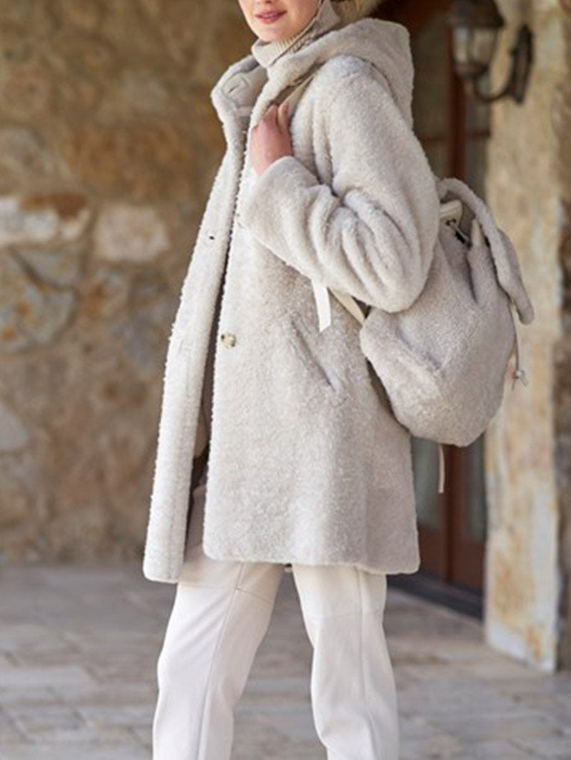 Fashion Simple Plush Coat