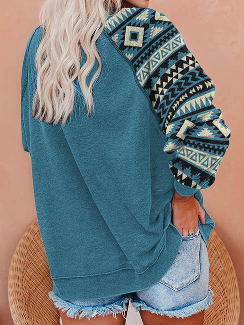Positioning Printed Sweater