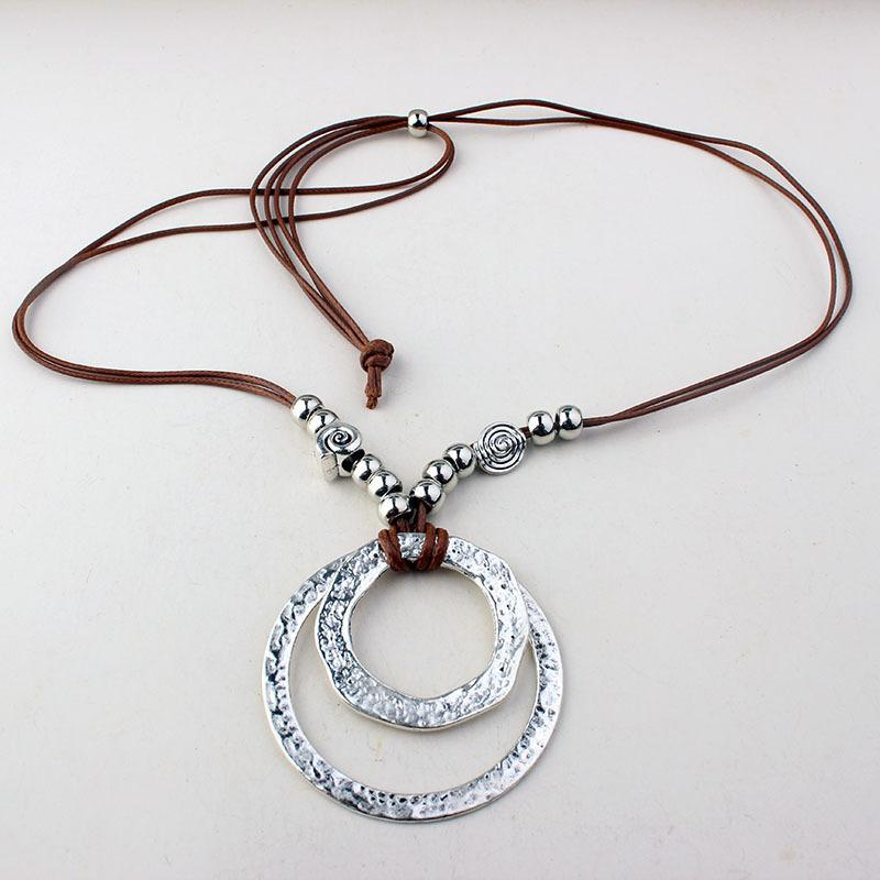 Bohemian Faux Leather Rope Sweater Chain Accessories