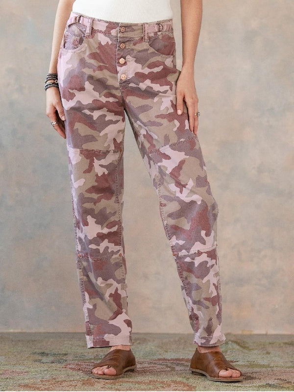 Casual Camouflage Print Pocket Pants