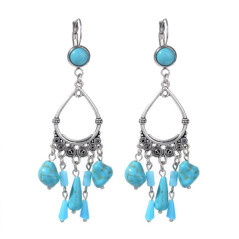 Turquoise Holiday Earrings