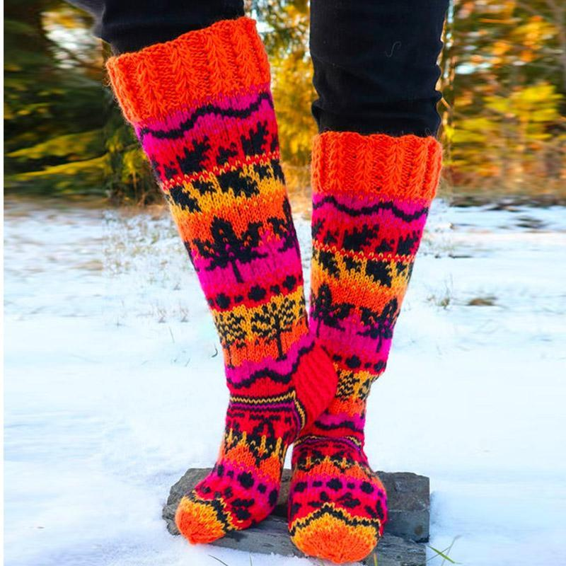 National Printed Thick Warm Women's Socks