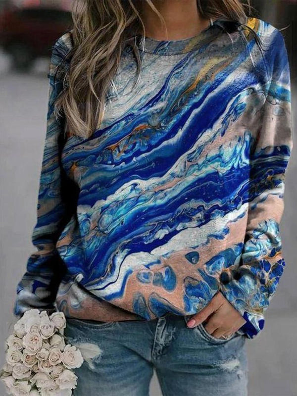 Color Print Sweatshirt