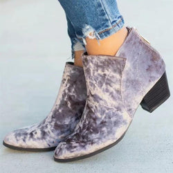 Suede Short Pointed Fashion Boots