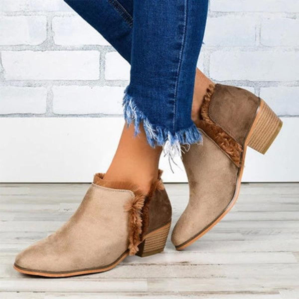 Simple Nude Boots
