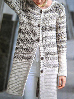 Bohemian Contrast Sweater Coat