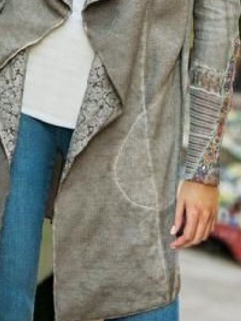 Casual Lapel Long Sleeve Coat