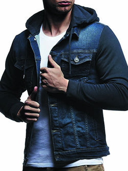 Men's Casual Hooded Denim Jacket