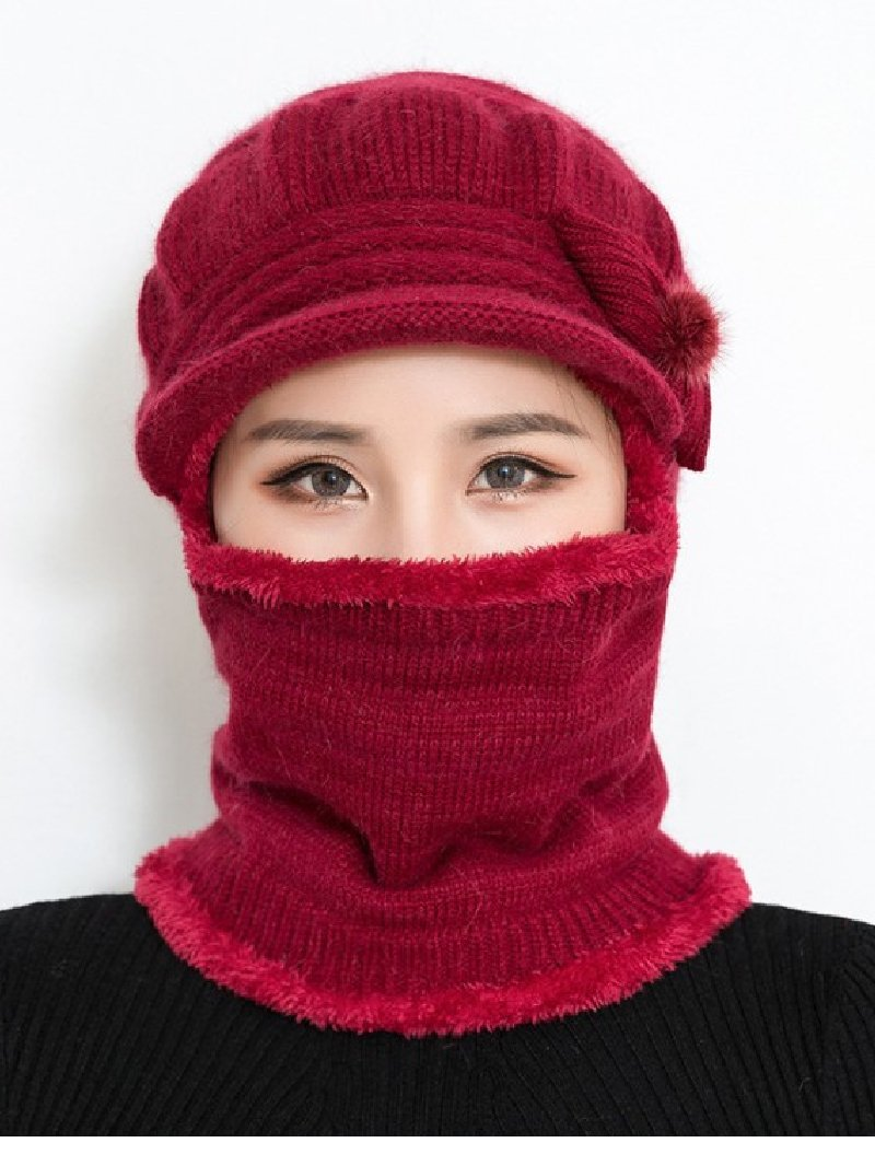 Ear Protection One-piece Woolen Cap