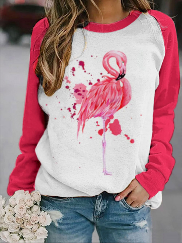 Flamingo Print Sweatshirt