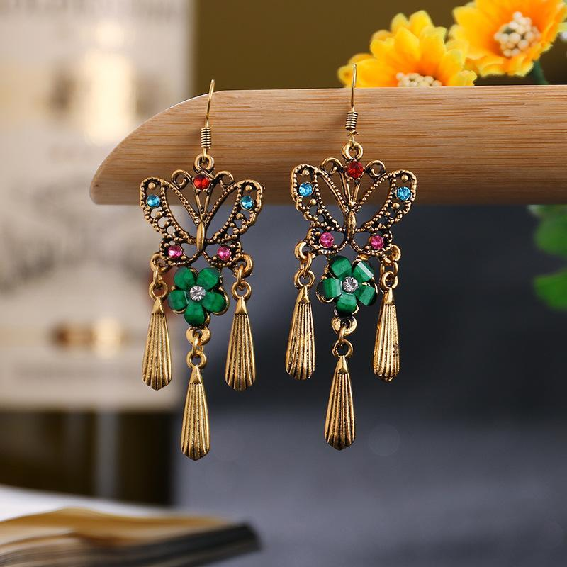 Butterfly Hollow Alloy Earrings