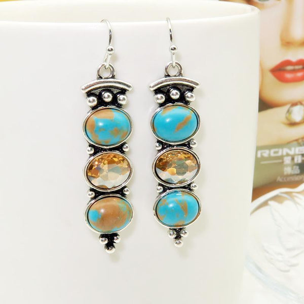 Vintage Silver Turquoise Earrings
