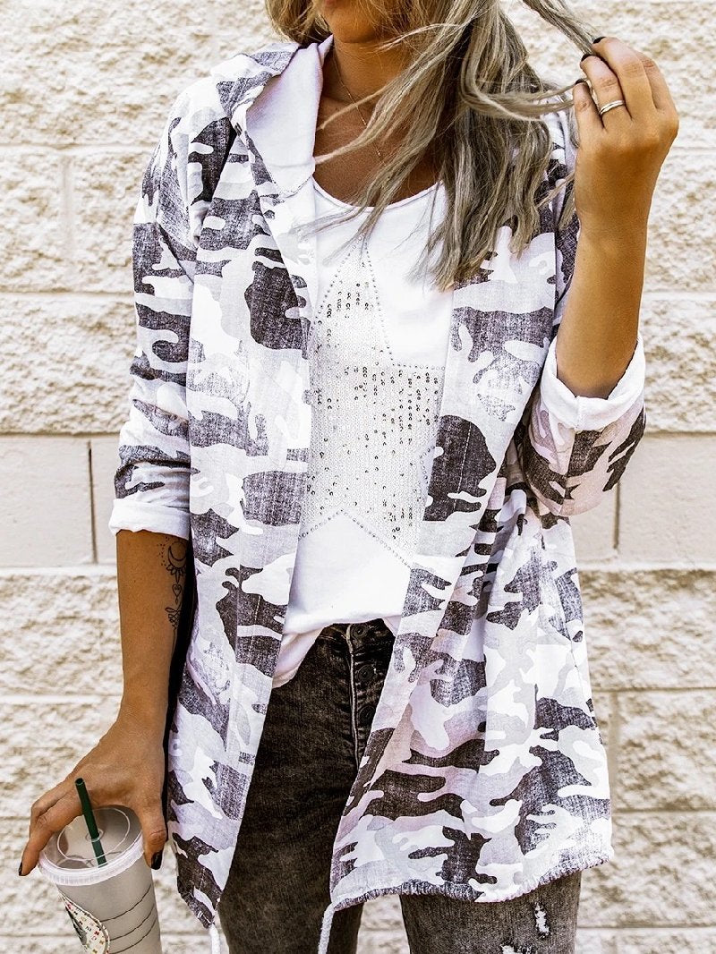 Autumn/Winter Fashion Loose Camouflage Print Casual Jacket