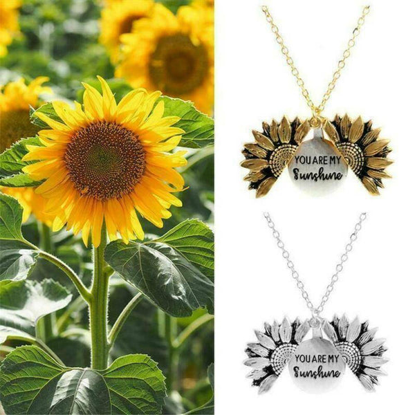 Sunflower Alloy Floral Collarbone Chain