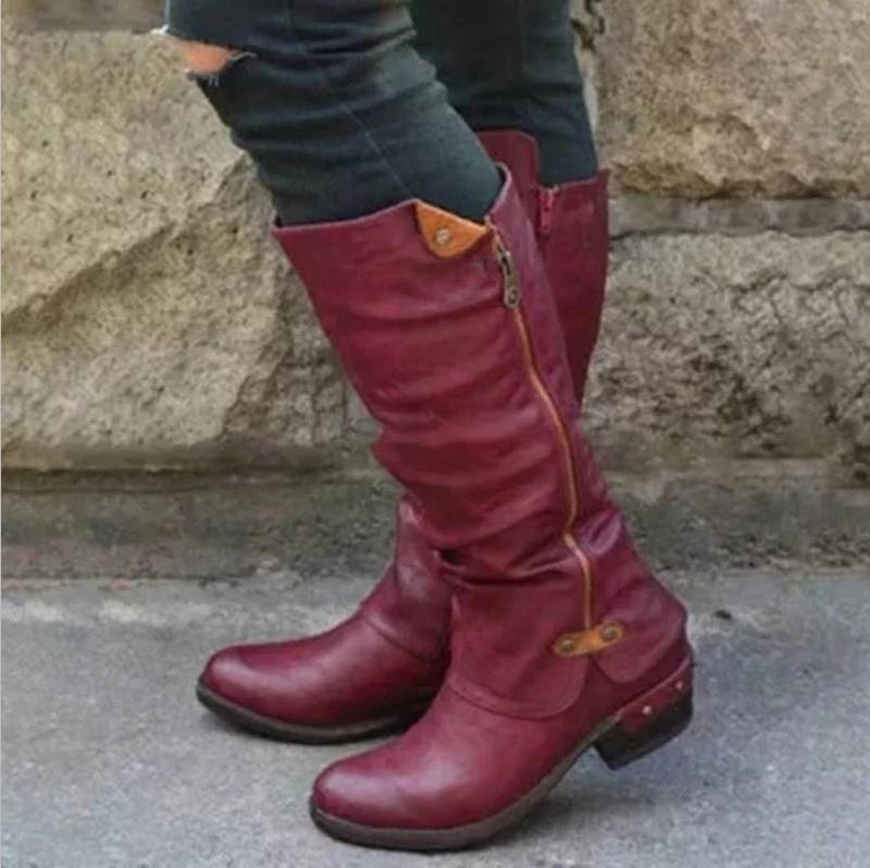 Rider Boots Tall Boots Thick Heeled Women Boots