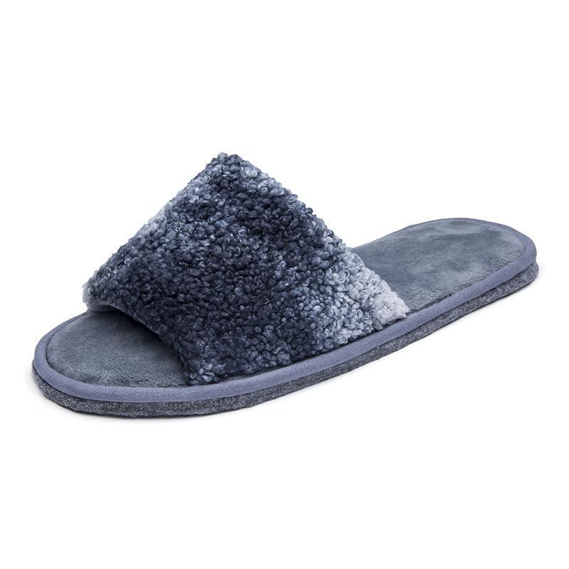 Tie-dye Flat-bottom Couple Style Non-slip Wear-resistant Warm Cotton Slippers