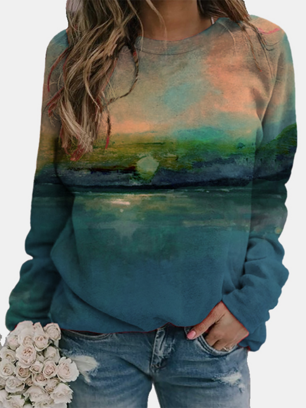 Cloud tie-dye printed sweatshirt
