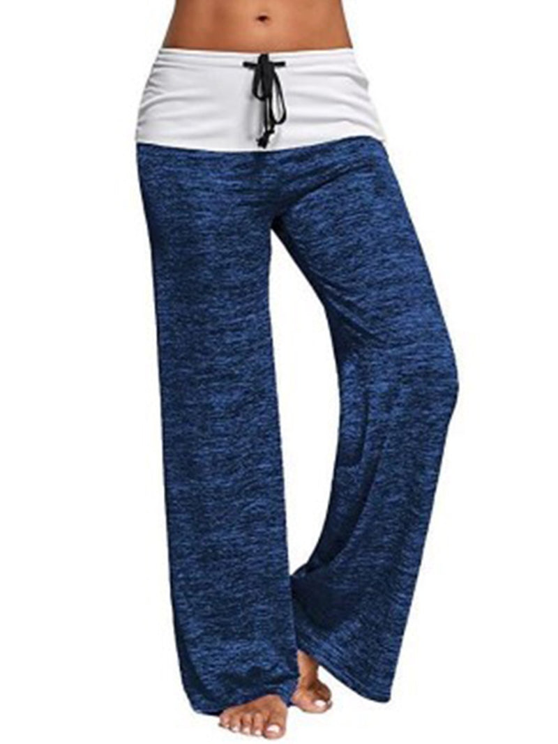 Splicing yoga quick dry sports trousers/ outdoor casual loose pants
