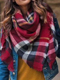 Plaid Blanket Scarf, Gift For Her,Christmas Gifts