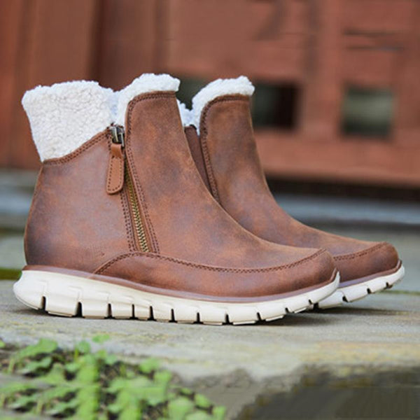 Warm Snow Boots Suede Women's Shoes