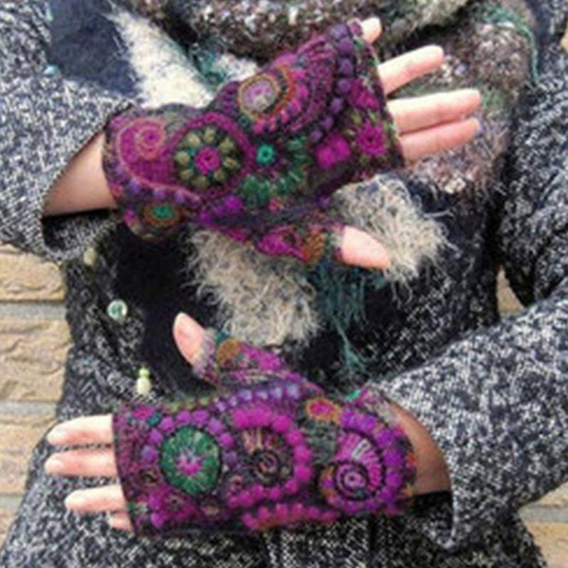 Fall & Winter Color Blocking Thermal Gloves