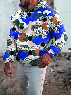 Men's Graphic Print Casual Trendy Sweater