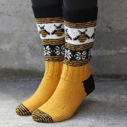 jacquard bee cotton socks