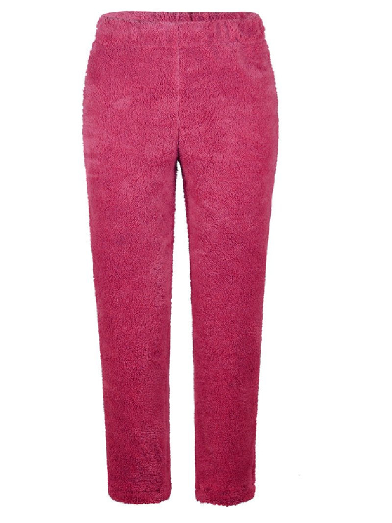 Solid Color Loose Plush Casual Women's Bottoms