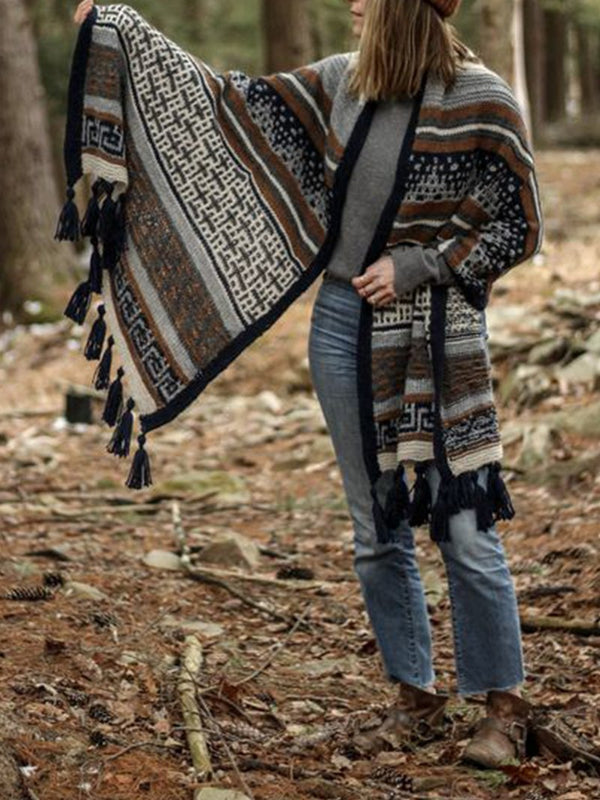Fashion Retro Fringed Scarf Shawl