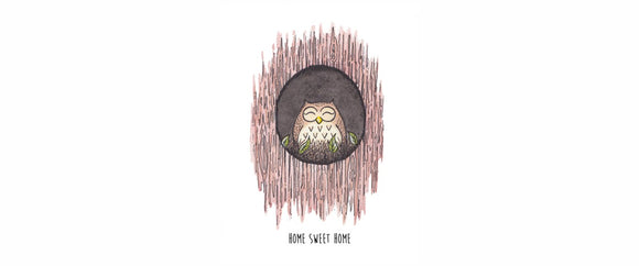 Owl At Home Sweet Home