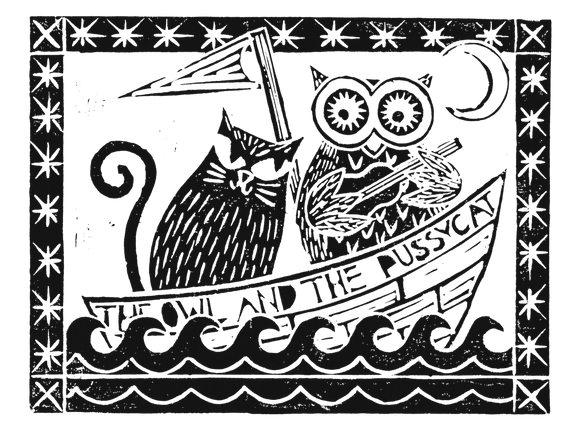 The Owl And The Pussycat, White Background
