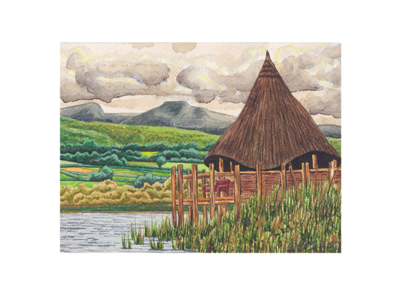 The Crannog Llangorse With Pen Y Fan