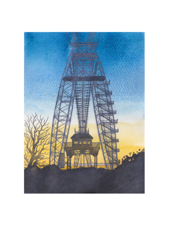 Transporter Bridge At Sunset