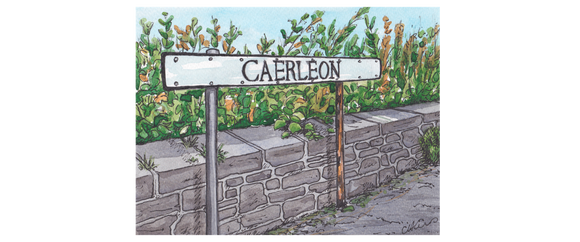 Caerleon Road Sign